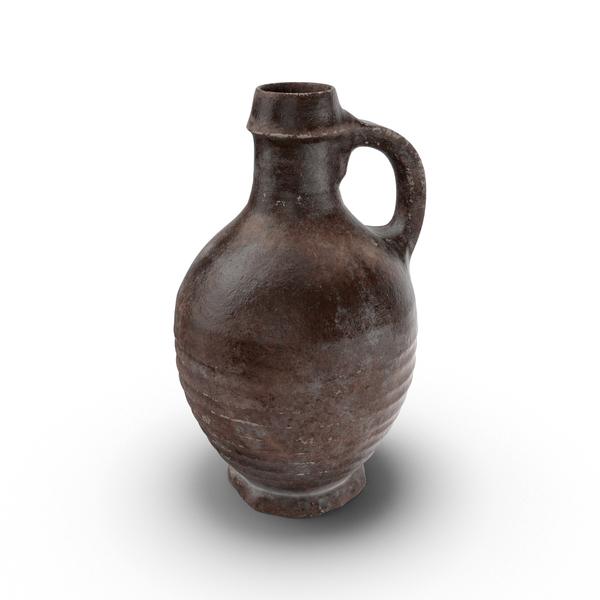 Growler: Medieval Ceramic Wine Jug PNG & PSD Images