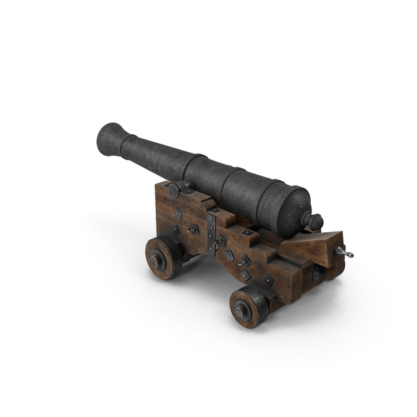 Medieval Gun on Gun Carriage PNG & PSD Images