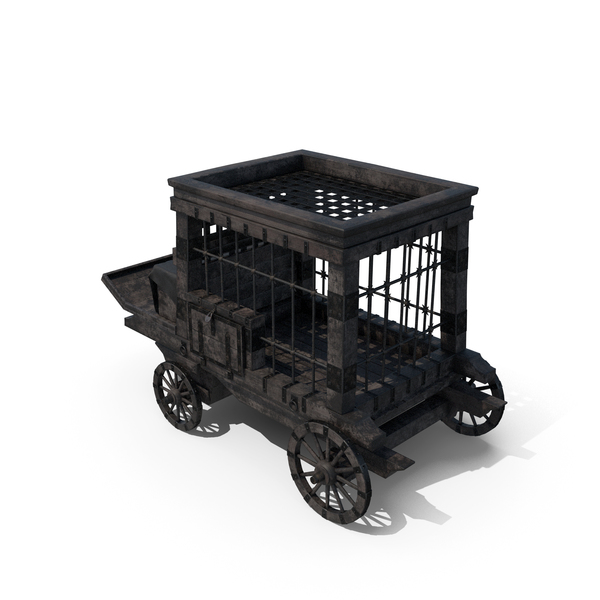 Carriage: Medieval Prisoner Trolley PNG & PSD Images