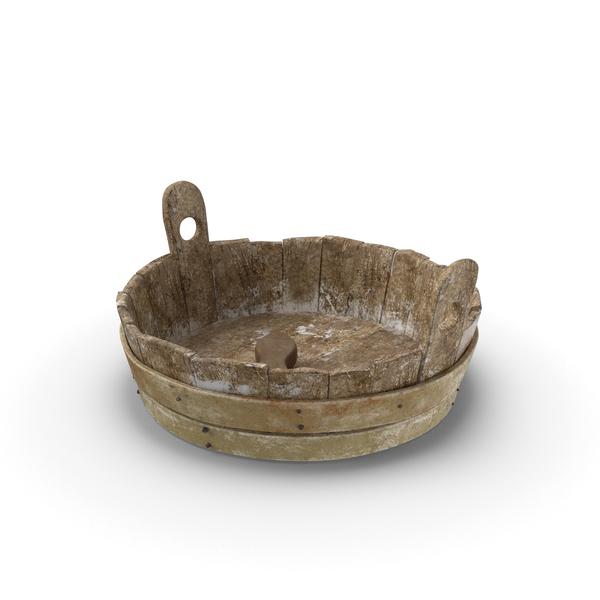 Bath: Medieval Wash Tub PNG & PSD Images