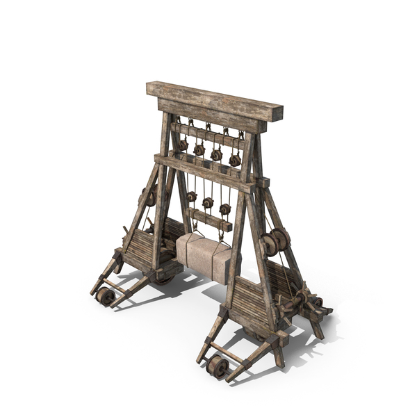 Industrial: Medieval Wooden Crane PNG & PSD Images
