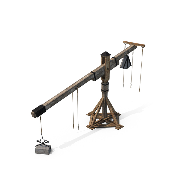 Medieval Wooden Crane PNG & PSD Images