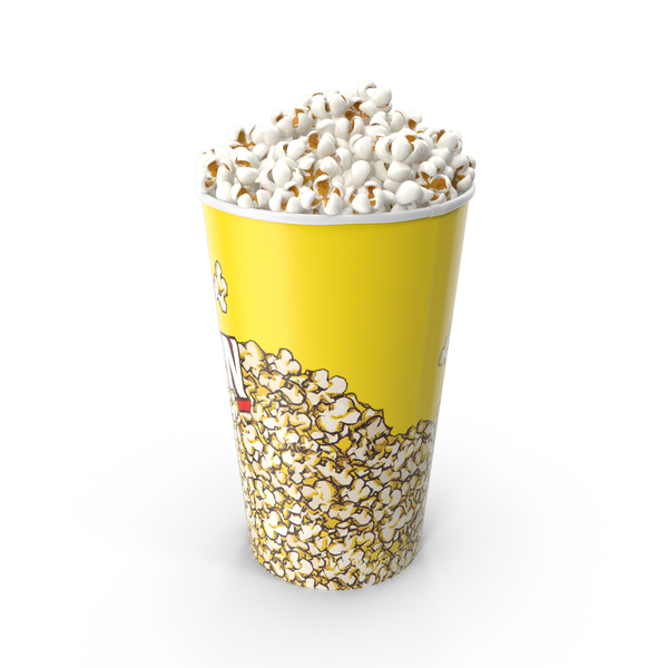 Medium Popcorn Bucket PNG & PSD Images