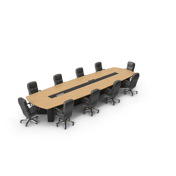 Office Chair: Meeting Table With Chairs PNG & PSD Images