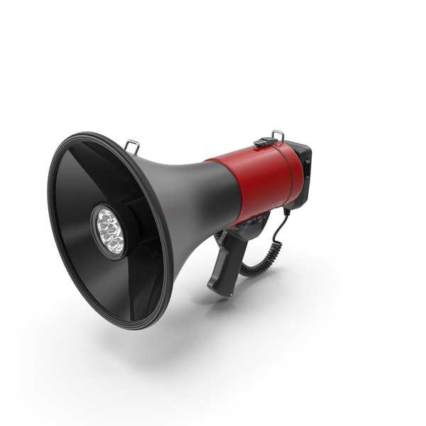 Megaphone Bullhorn Speaker with Siren PNG & PSD Images