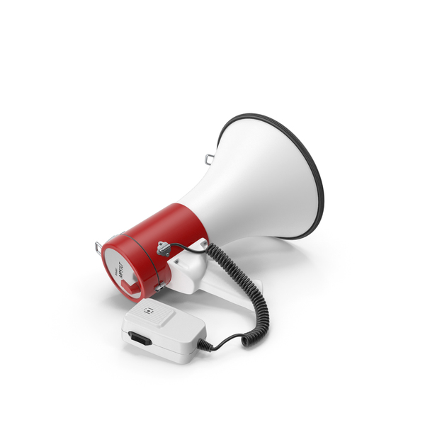 Megaphone Speaker with LED Flashlight PNG & PSD Images