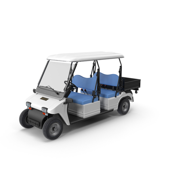 Golf Cart: Melex Passenger Electric Vehicle PNG & PSD Images