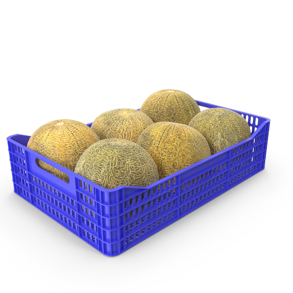 Melon: Melons in Plastic Crate PNG & PSD Images