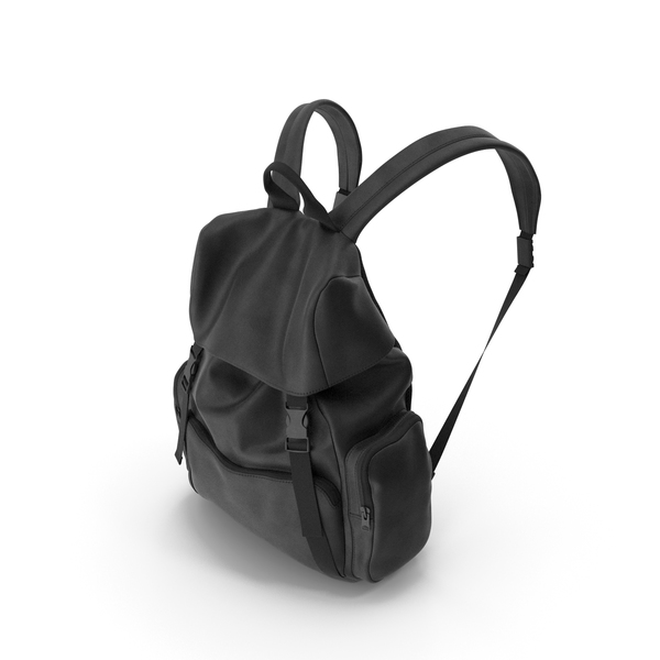 Men's Backpack Black PNG & PSD Images