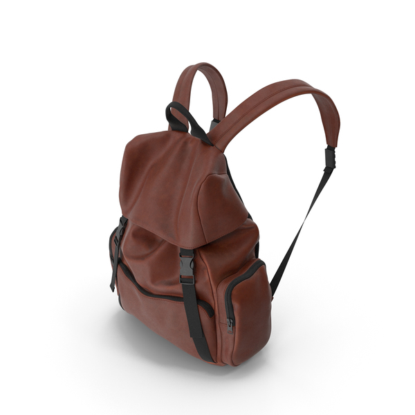 Men's Backpack  Brown PNG & PSD Images