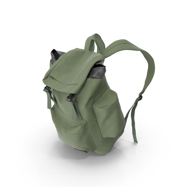 Men's Backpack Green PNG & PSD Images