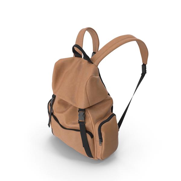 Men's Backpack Orange PNG & PSD Images