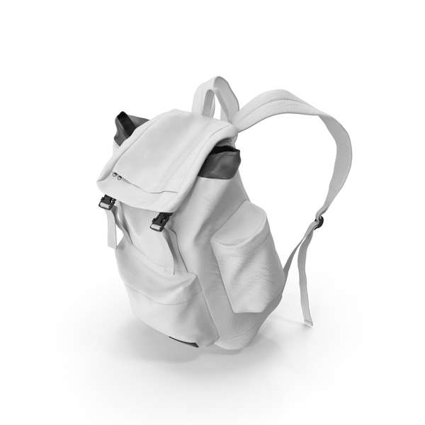Men's Backpack  White PNG & PSD Images