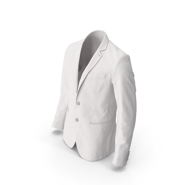 Men's Blazer White PNG & PSD Images