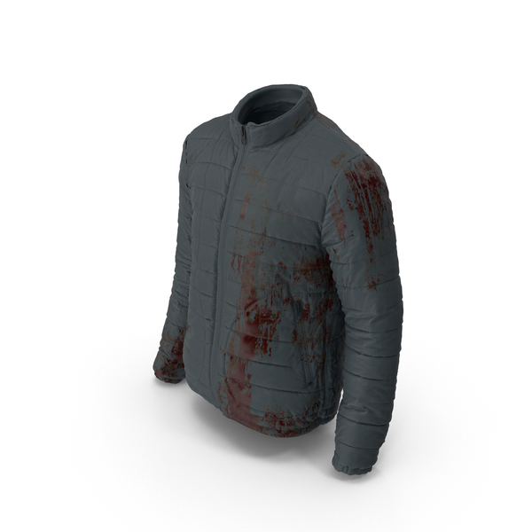 Men's Bloodied Down Jacket PNG & PSD Images