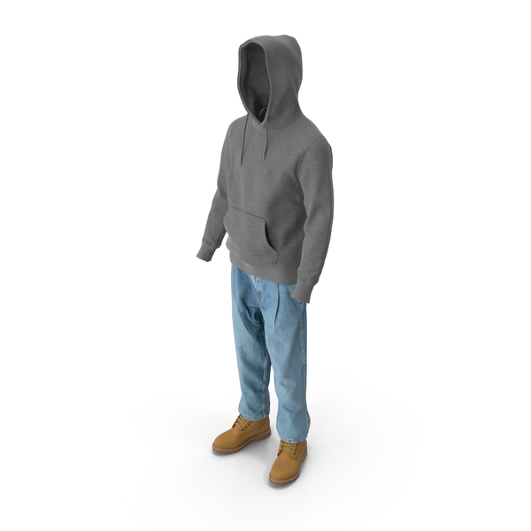 Men's Boots Jeans T-Shirt Hoodie PNG & PSD Images