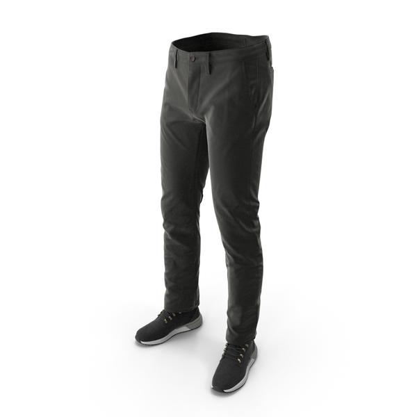 Clothing: Men's Boots Pants Black PNG & PSD Images
