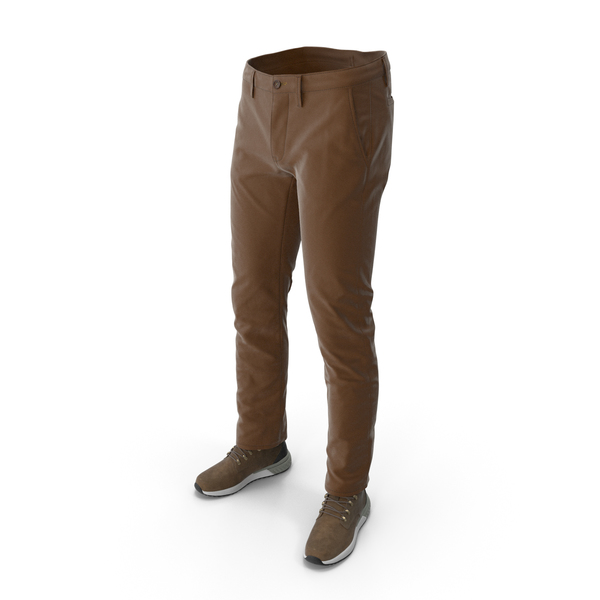 Clothing: Men's Boots Pants Brown PNG & PSD Images