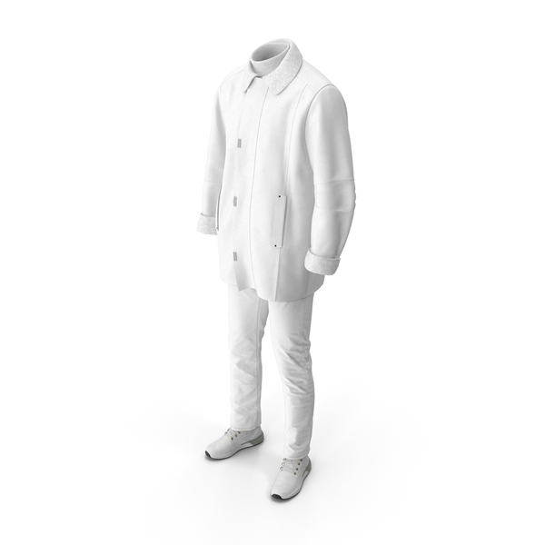 Men's Boots Pants Coat Pullover White PNG & PSD Images