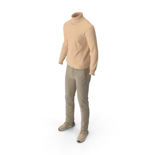 Men's Boots Pants Pullover Beige PNG & PSD Images