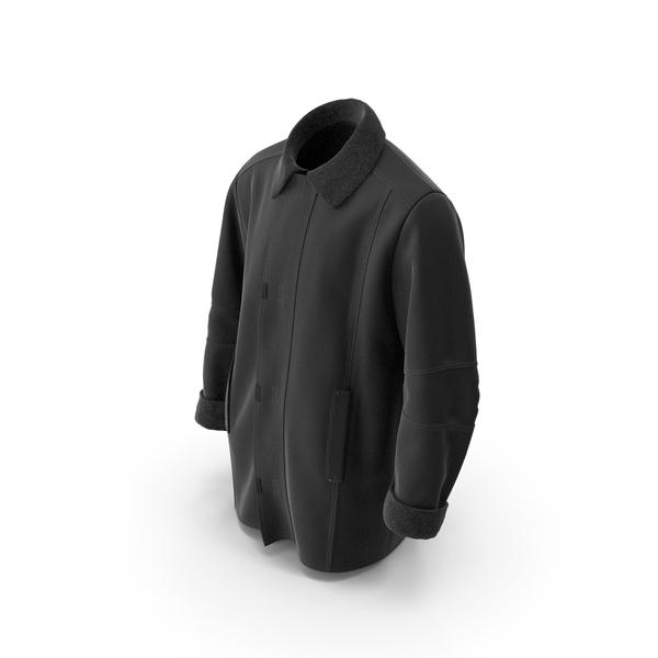 Men's Coat Black PNG & PSD Images