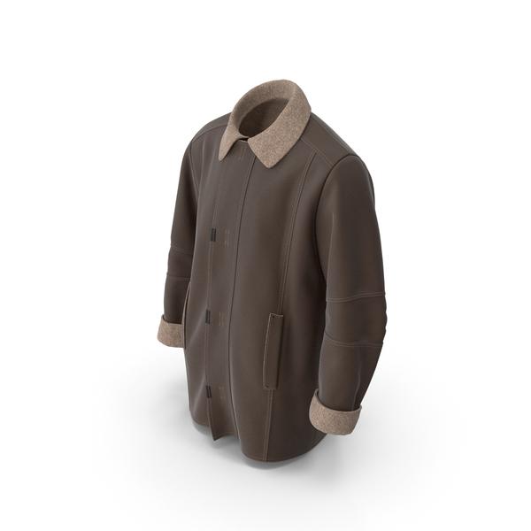 Men's Coat Brown PNG & PSD Images