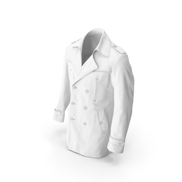 Men's Coat White PNG & PSD Images