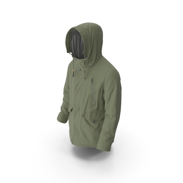 Men's Down Coat Green PNG & PSD Images