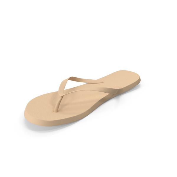 Men's Flip-Flop Beige PNG & PSD Images