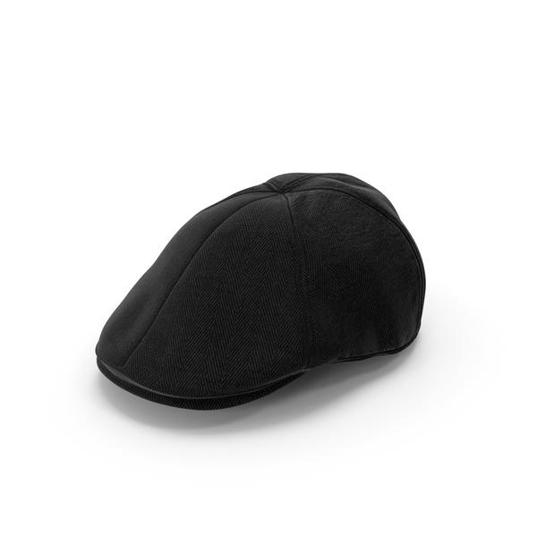 Men's Hat Black PNG & PSD Images