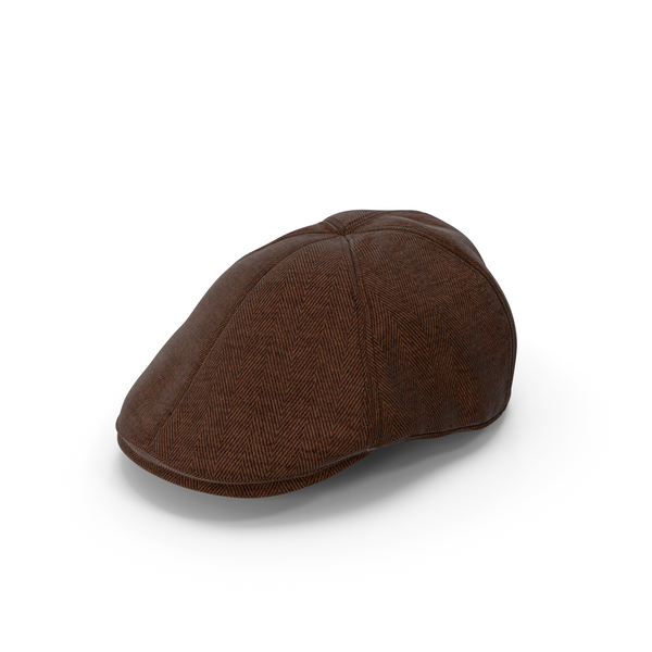 Men's Hat Brown PNG & PSD Images