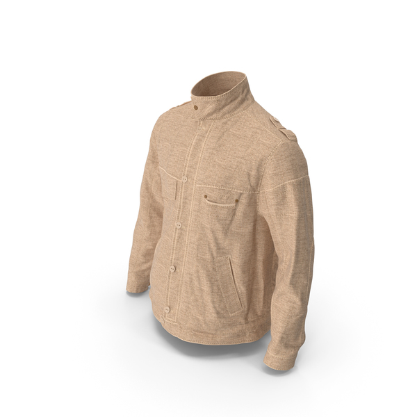 Men's Jacket Beige PNG & PSD Images
