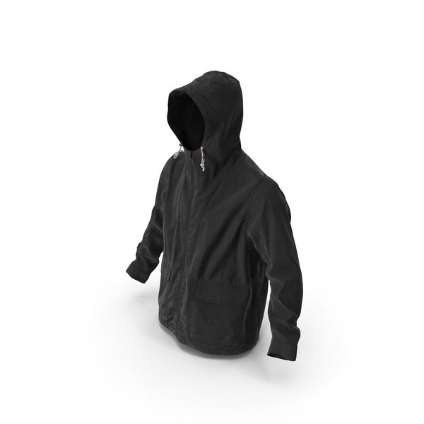 Men's Jacket Black PNG & PSD Images
