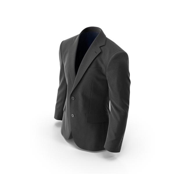Men's Jacket Black PNG & PSD Images