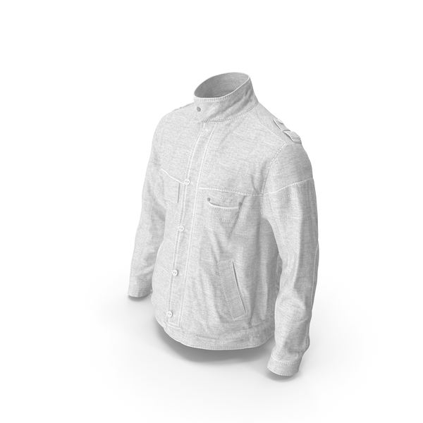 Men's Jacket White PNG & PSD Images