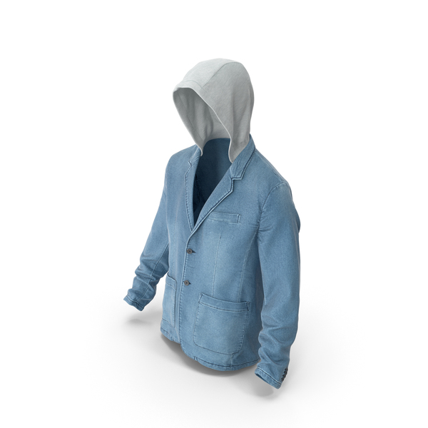 Men's Jean Jacket Blue PNG & PSD Images