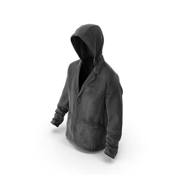 Men's Jean Jacket Dark Grey PNG & PSD Images