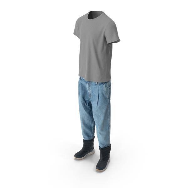 Men's Jeans Boots T-shirt PNG & PSD Images