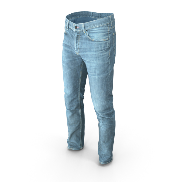 Men's Jeans Light Blue PNG & PSD Images