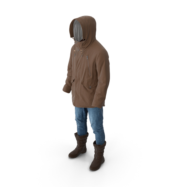 Men's Pants Boots Pullover Coat Brown PNG & PSD Images