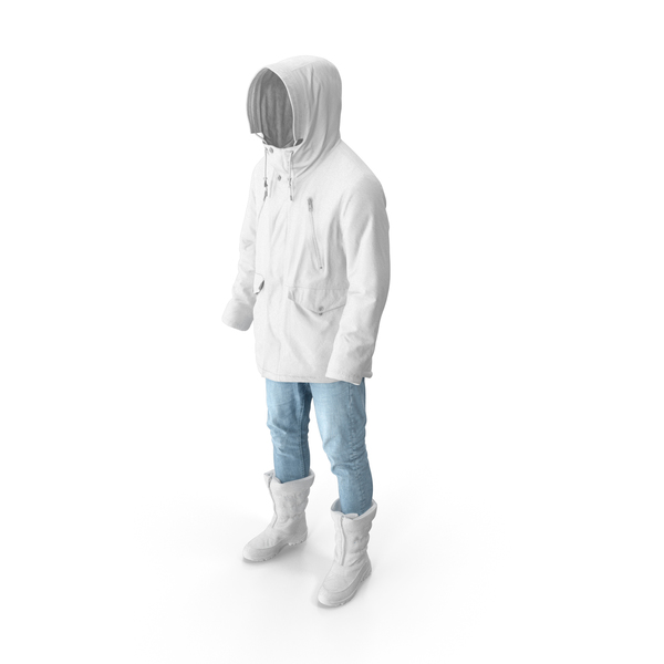 Men's Pants Boots Pullover Coat White PNG & PSD Images