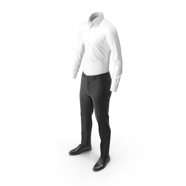 Clothing: Men's Pants Shirt Shoes Brown PNG & PSD Images