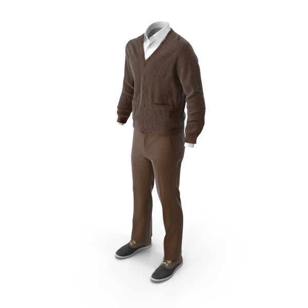 Men's Pants Waistcoat Shirt Shoes Brown PNG & PSD Images