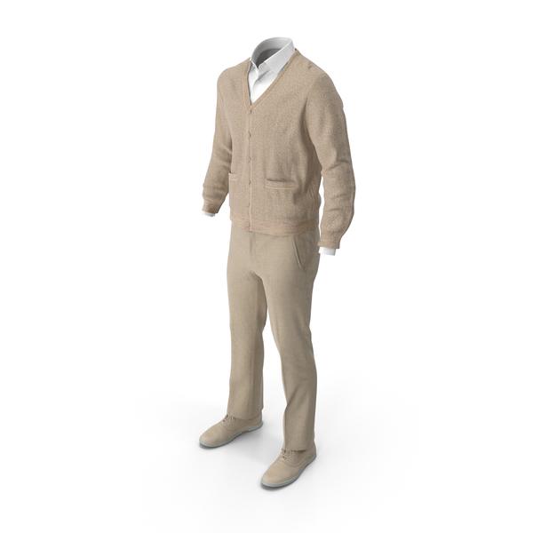 Men's Pants Waistcoat Shirt Shoes Yellow PNG & PSD Images