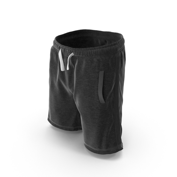 Men's Shorts Black PNG & PSD Images