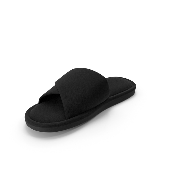 Men's Slipper Black PNG & PSD Images