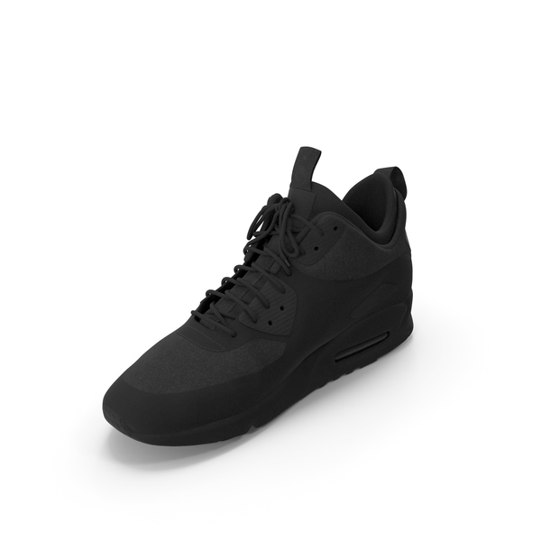 Men's Sneakers  Black PNG & PSD Images
