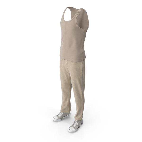 Check Pants: Men's Sport Clothing Beige PNG & PSD Images