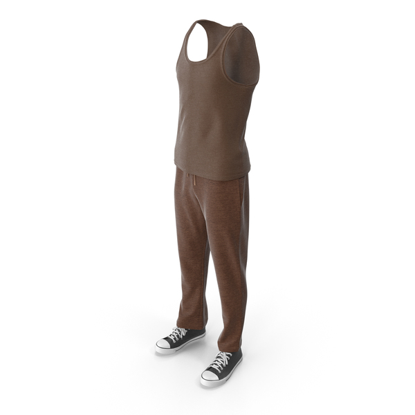 Men's Sport Clothing Brown PNG & PSD Images