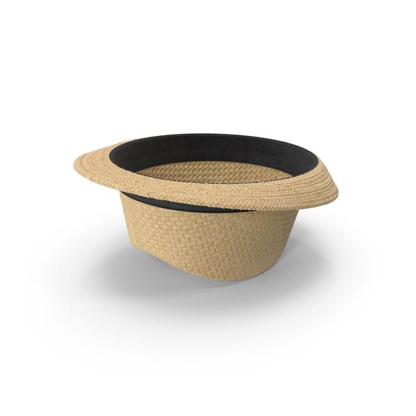 Men's Straw Hat Object